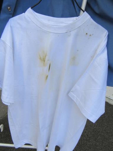 burnt tshirt