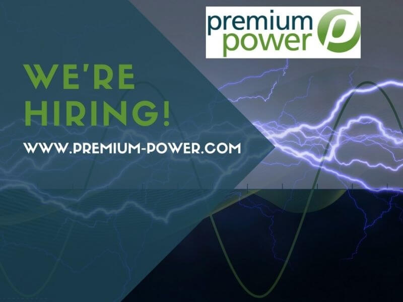 We're hiring – new positions open at Premium Power